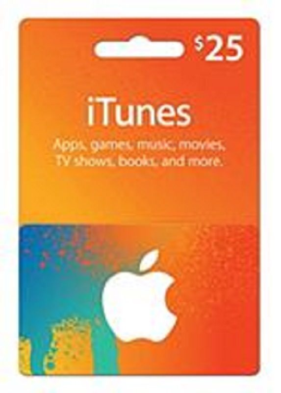 Apple Itunes Gift Card Voucher Certificate Fast Free Shipping 25