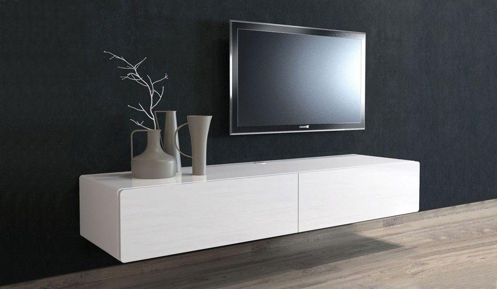 Ikon White Floating Tv Unit Medium Delux Deco Woonkamer