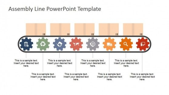Assembly Line PowerPoint Shapes | Diagrams | Assembly line