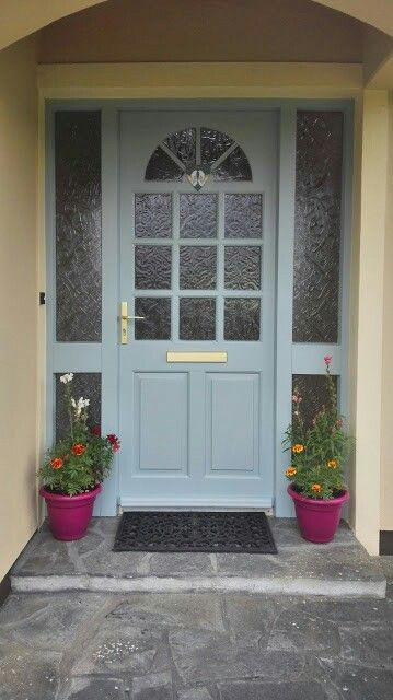 the colour i have painted my front door,sweet bluebirddulux