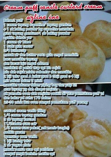Creampuff (With images) | Cream puffs, Resepi cream puff ...
