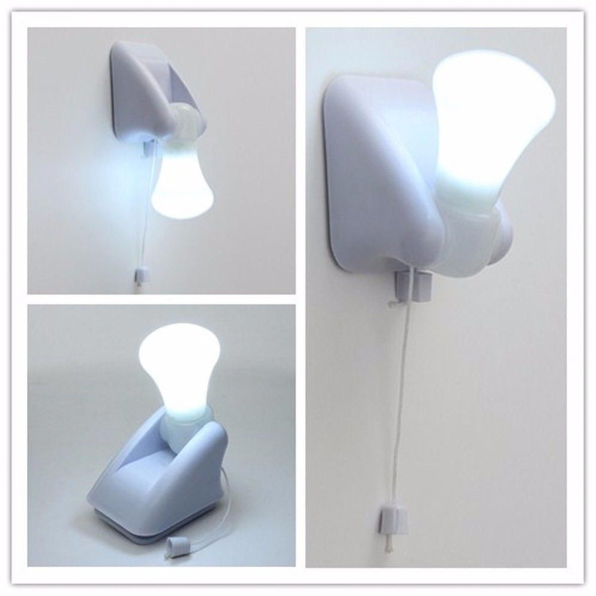 229 Wire Led Bulb Cabinet Night Light Battery Self Wiring A Lamp With Adhesive Wall Mount Ebay Home Garden Wallmountedtable