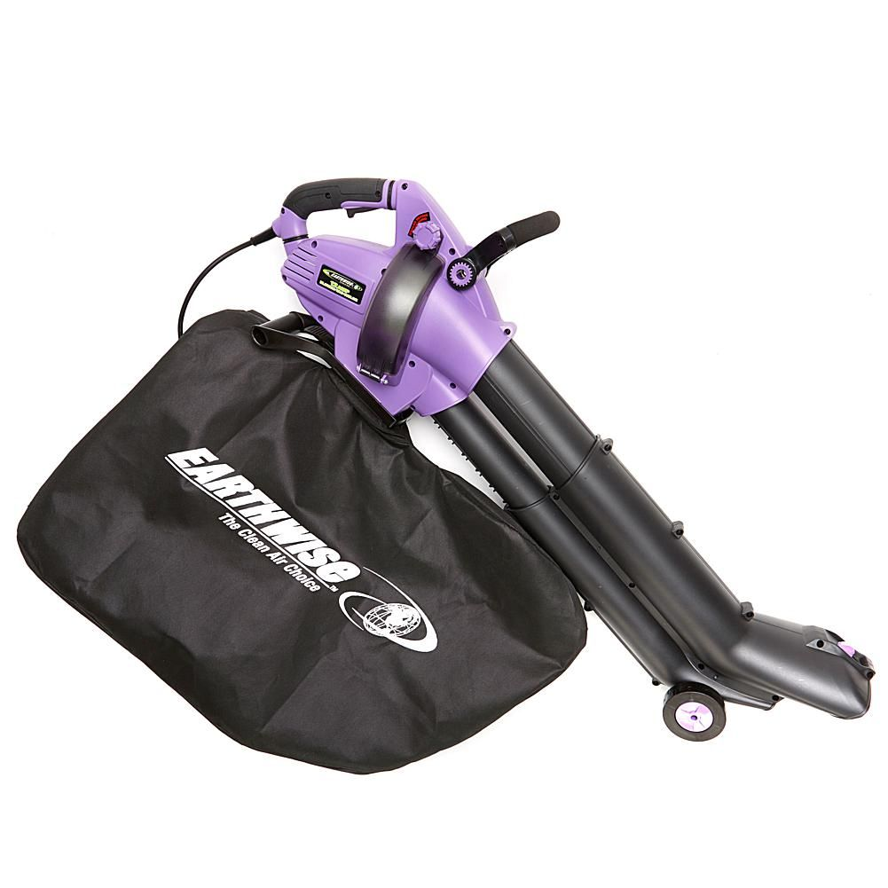 FieldSmith by EARTHWISE 12-Amp Corded 3-in-1 Wheeled Blower, Vacuum and Mulcher - Purple