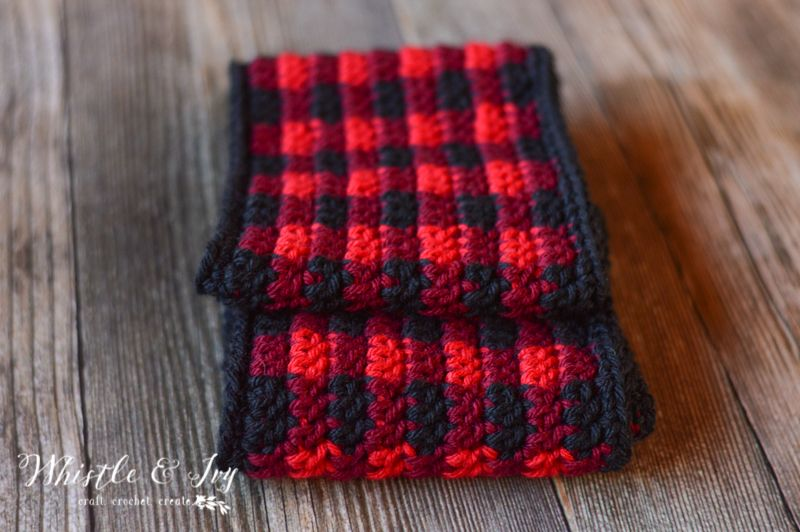 Crochet Plaid Infinity Scarf | Pinterest | Stricken und häkeln, Loop ...