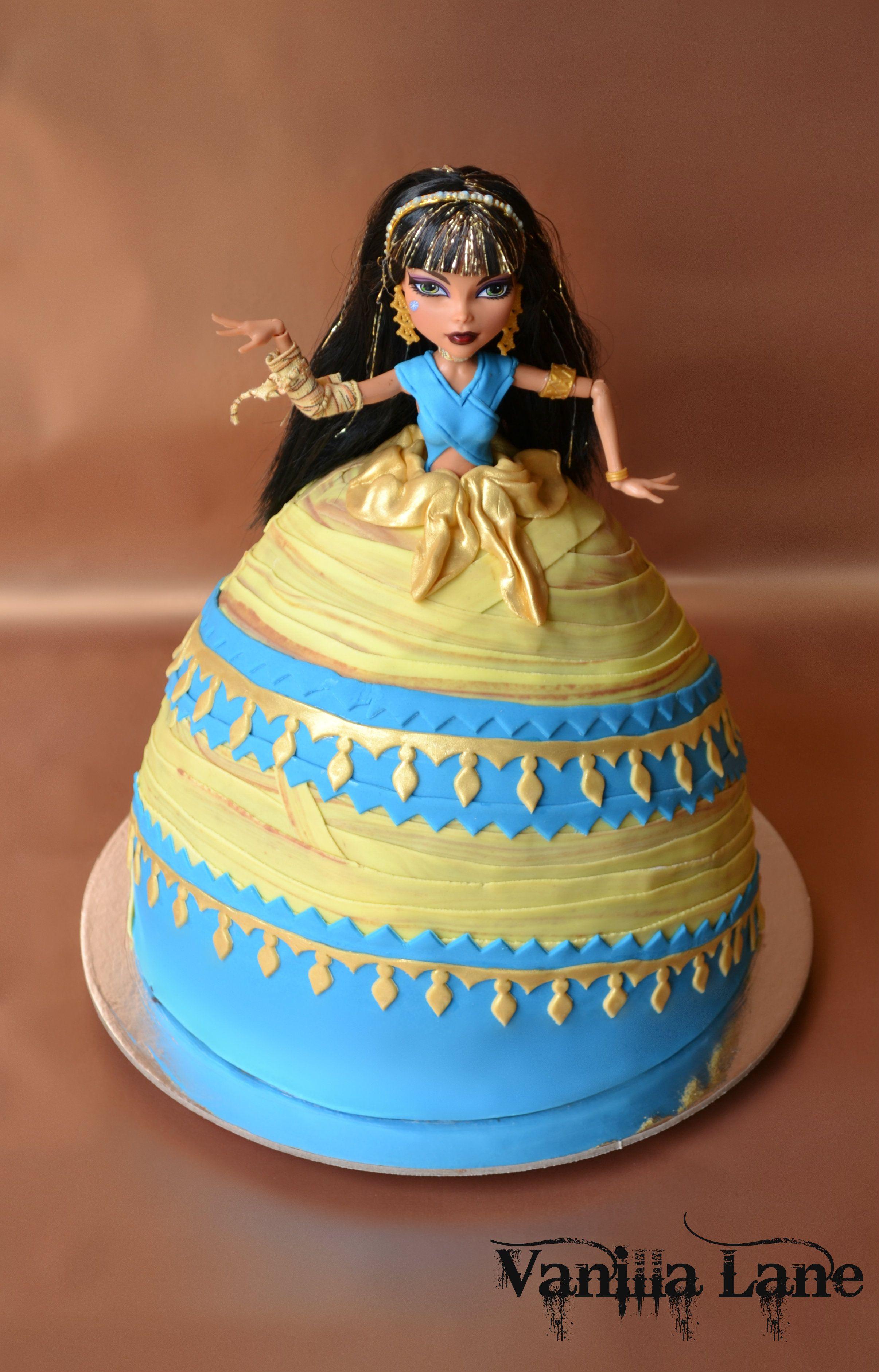 Marvelous Cleo De Nile Monster High Cake Monster High Cakes Monster Personalised Birthday Cards Sponlily Jamesorg