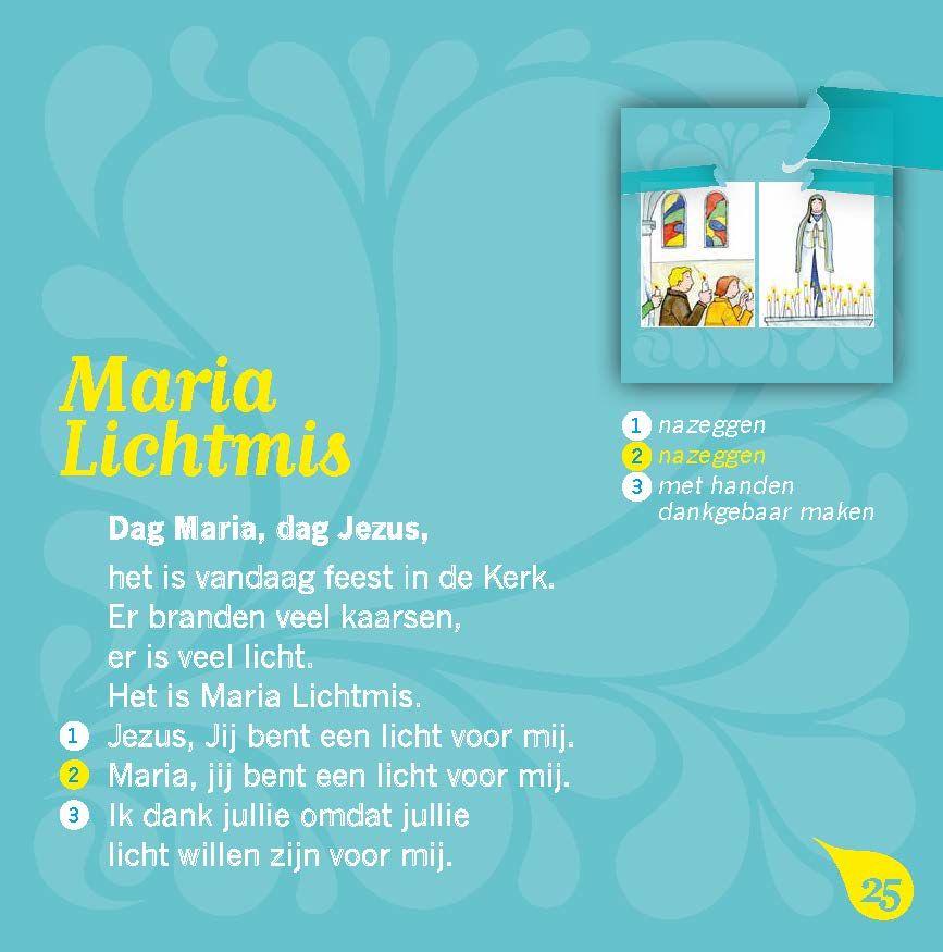 Bidden met kleuters | Maria Lichtmis | Schootboek, Kleuter, Bidden
