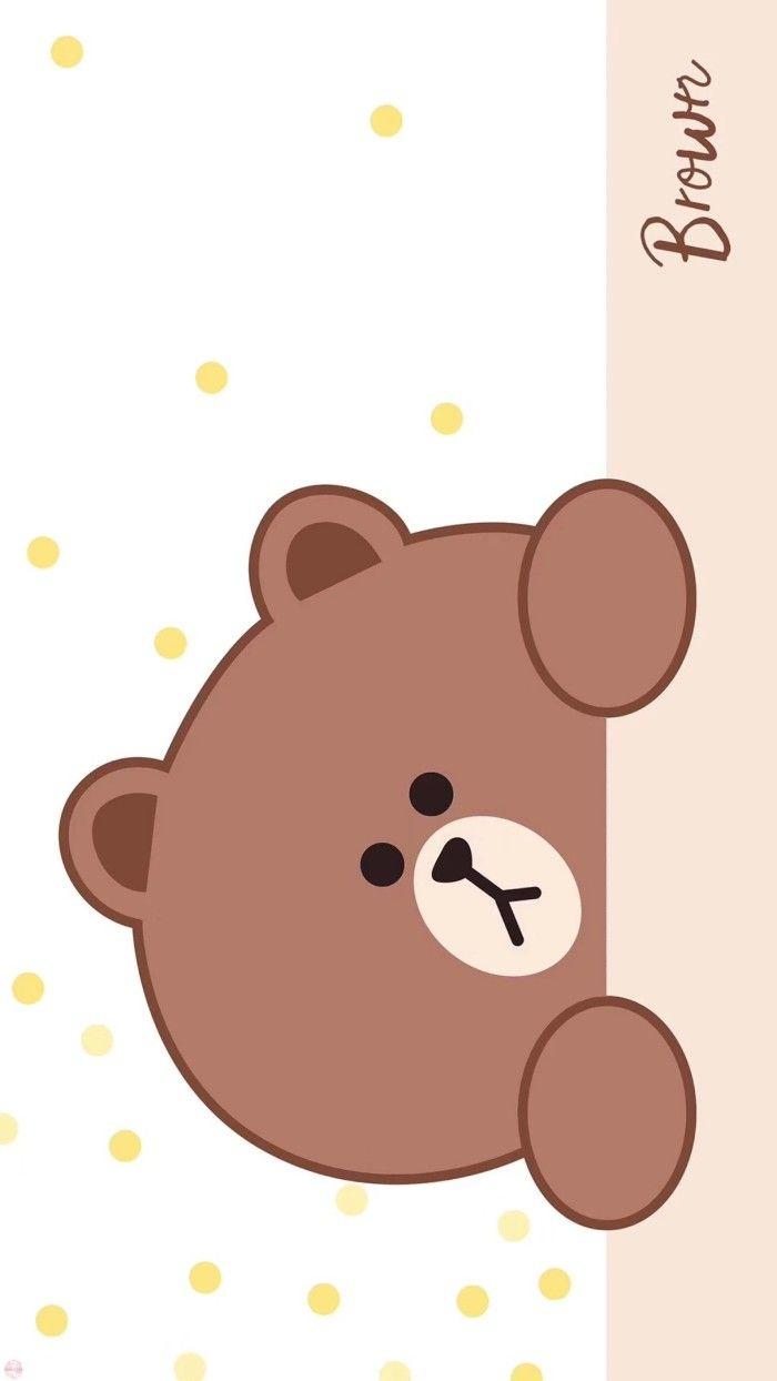 Pin Oleh Lo Chiali Di Doodles Beruang Coklat Wallpaper Lucu Gambar Lucu