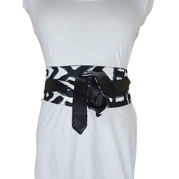 e1015d5f7297 ceinture obi bogolan ceinture corset noire et blanc zébré ...
