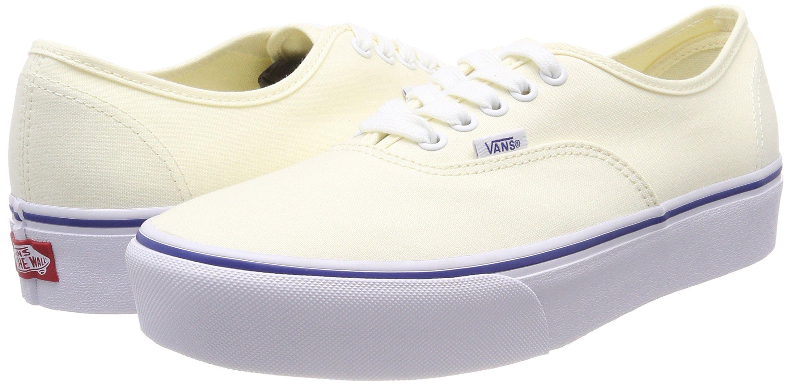 Vans Authentic Platform Canvas Classic White/True White 7 ...