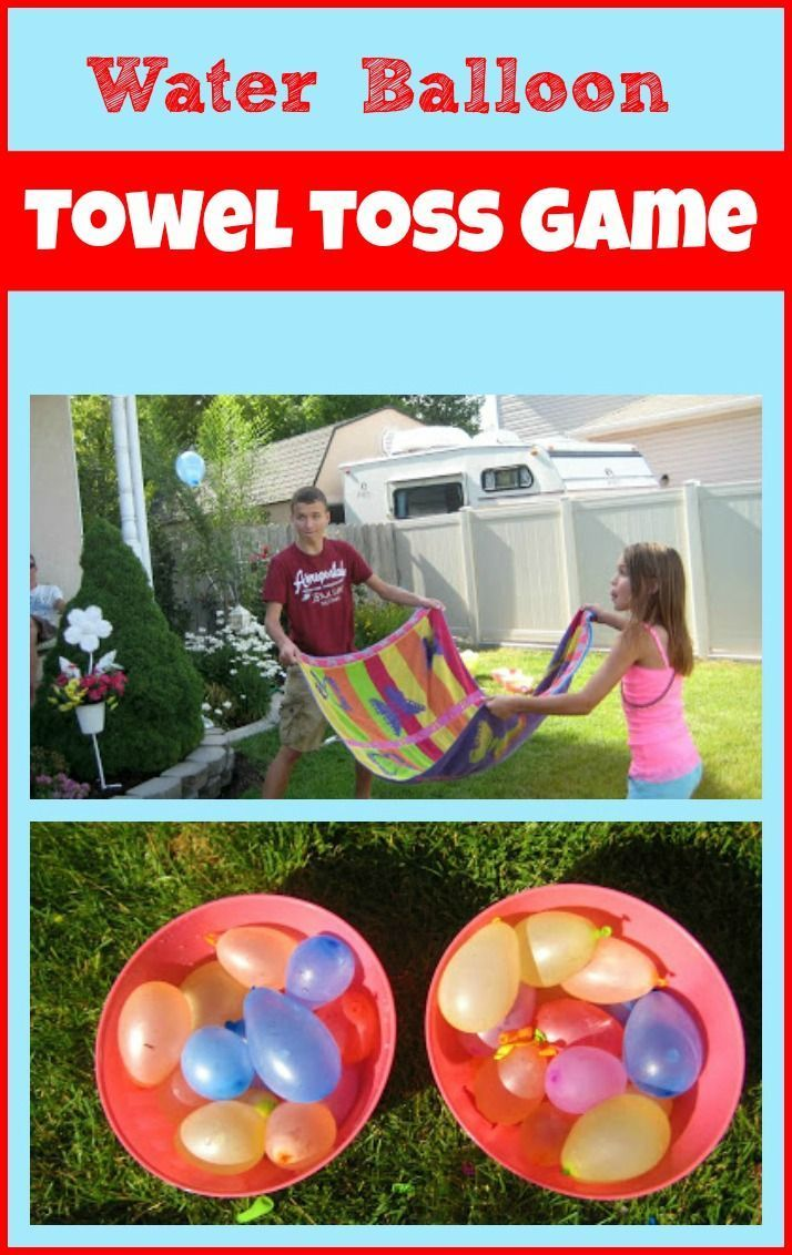 Water Balloon Game Water Balloon Towel Toss Is A Fun Summer