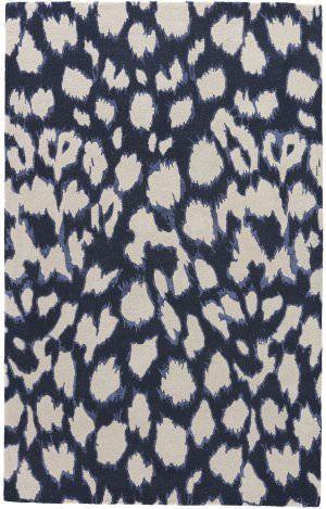 Jaipur Living Gramercy By Kate Spade New York Leopard Ikat Gkn49 Dark Navy Area Rug Pattern Print Rug Studio Leopard Rug Rugs