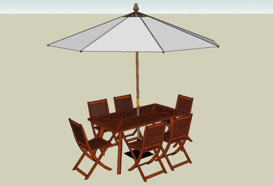 3d Model Dining Table And Chair Layout Sketchup File Table And