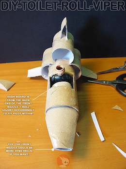 how to build a toy spaceship
