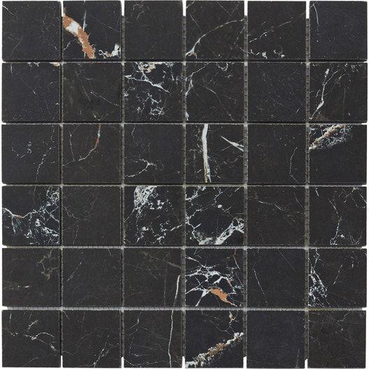Mosaique Sol Et Mur Murano Noir Gold 30 X 30 Cm Leroy Merlin En 2020 Sol Et Mur Marbre Noir Sol