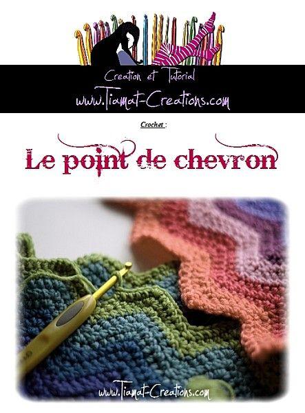 Comment faire: Le point de chevron (Crochet)   Tricot et crochet, Crochet, Point de tricot