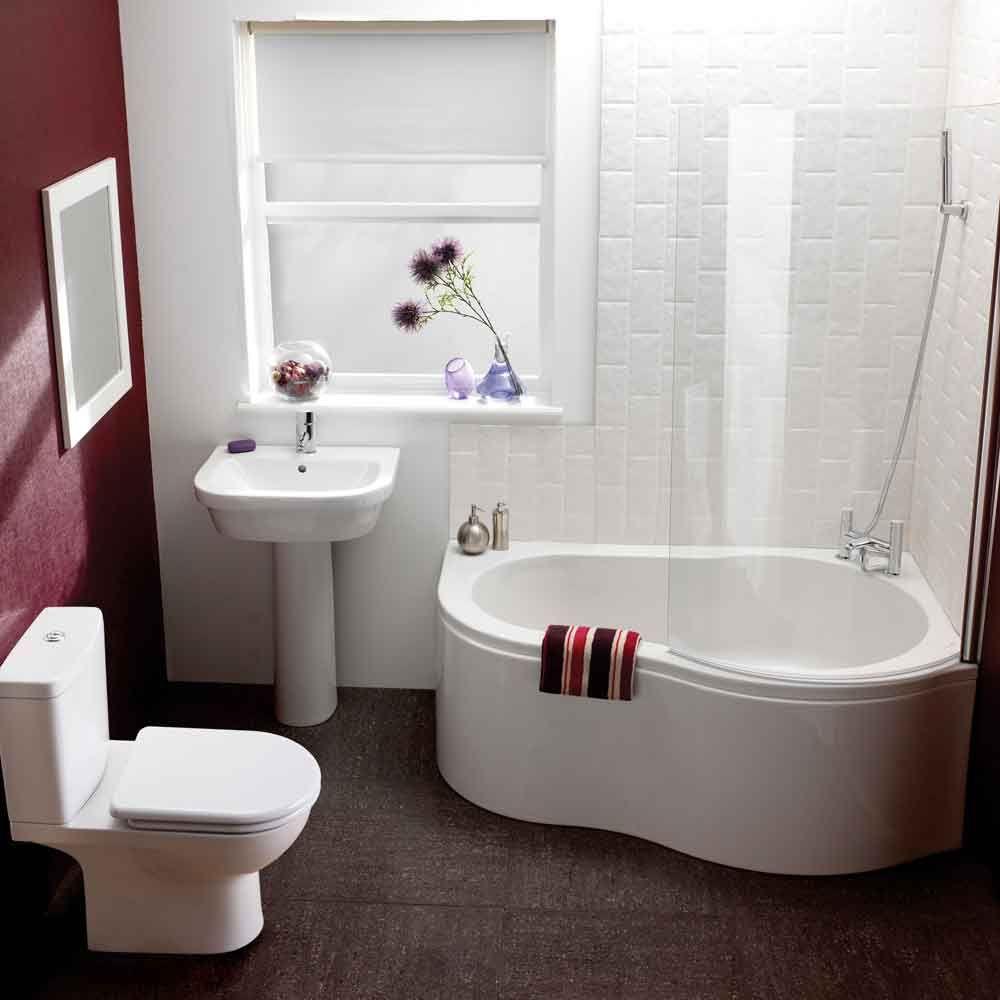 Unique Small Bathroom Design Ideas in Comfy Bath Tub All in White ...
