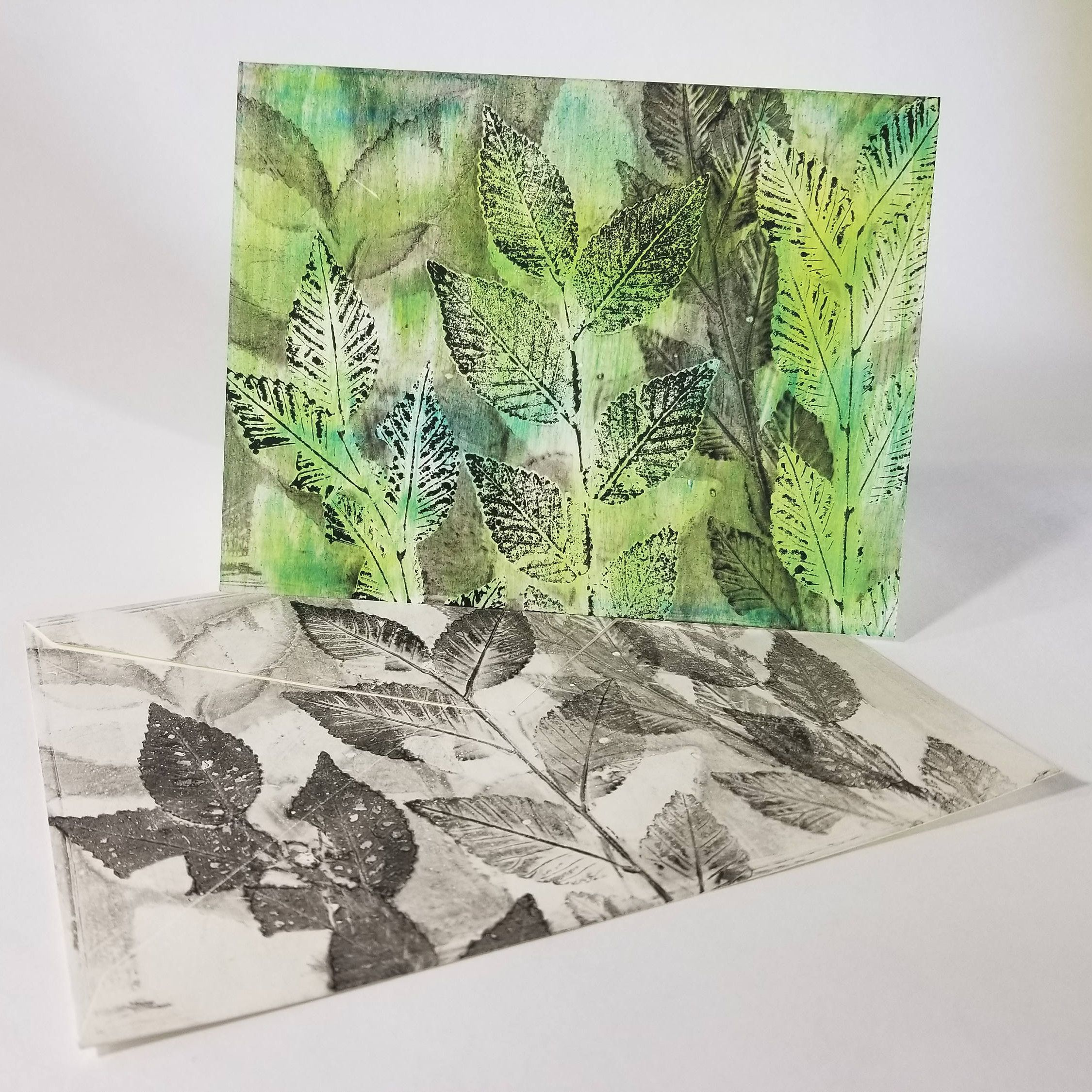 Hand Printed Nature Inspired Greeting Card 5 X 7 Matching Envelope