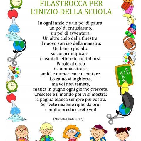 Poesia Primo Giorno Classe Prima Maestra Anita Nel 2020 Filastrocche Scuola Divertente Poesia