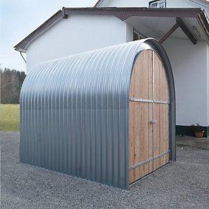 Gartenhaus Wellblech mit Holzfront (con imágenes)