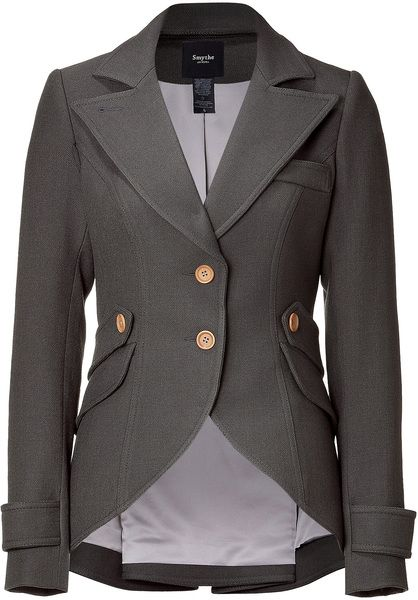 Smythe Slate Hunting Jacket with Arm Patches in Gray (slate)- so beautiful!!
