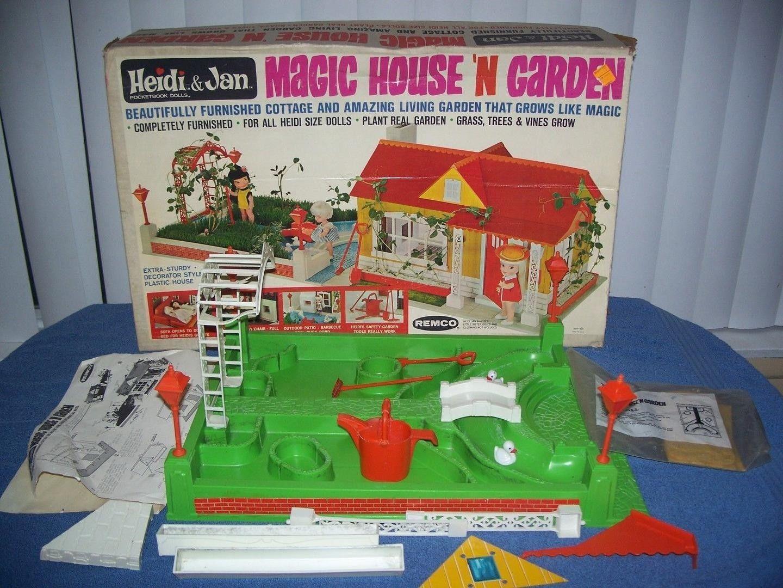 Rare Vintage 1966 Heidi U0026 Jan Magic House N Garden W/ Box By Remco |  #1796082325