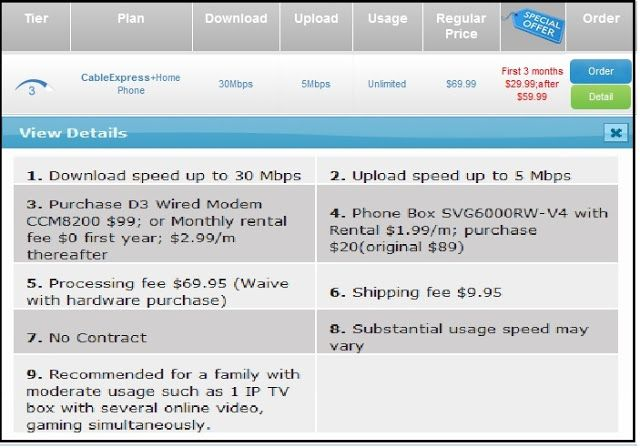 Special Offer On Cable Bundle Promotion Plans With Unlimited Usage