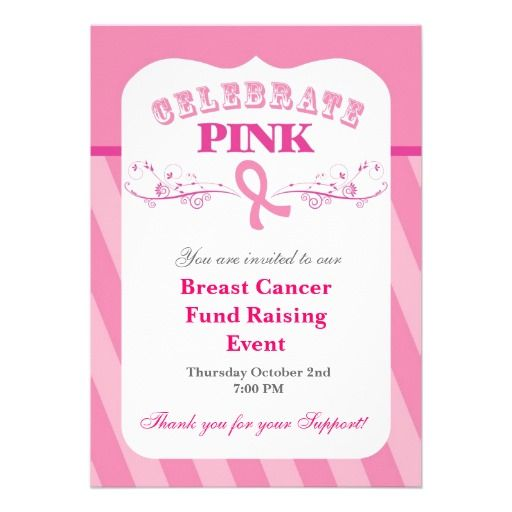Infinitely possible fundraising events for breast cancer