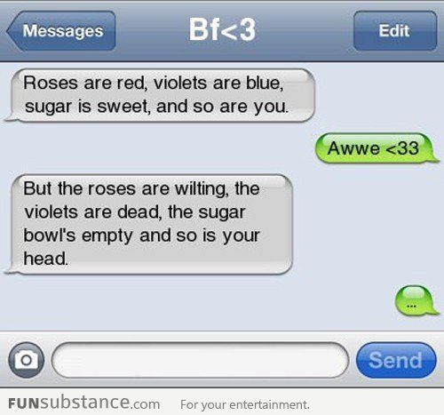 Roses Are Red Violets Are Blue Funsubstance Funny Poems Roses Are Red Funny Funny Text Messages