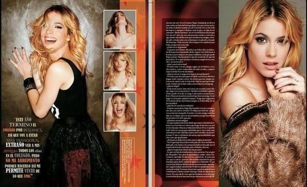 Fotos de las páginas de la revista @elplanetaurbano, donde hablan sobre @TiniStoessel. ☺️