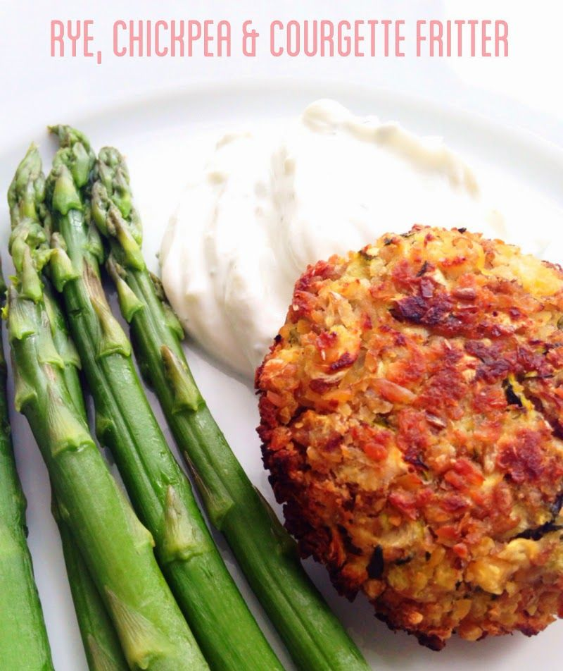 Rye, chickpea and courgette fritter
