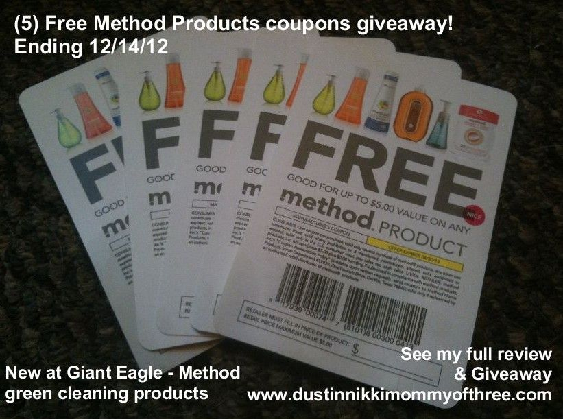New at Giant Eagle – Method Green Cleaning Products Review & Giveaway