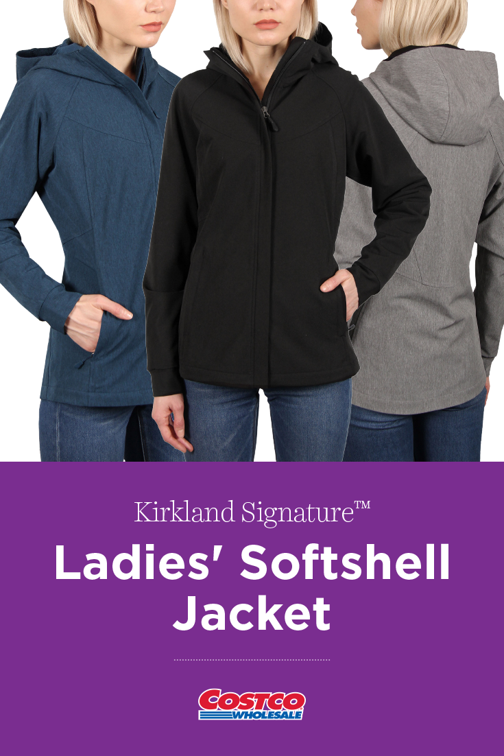 Kirkland Signature Womens Softshell Black Jacket Size Small