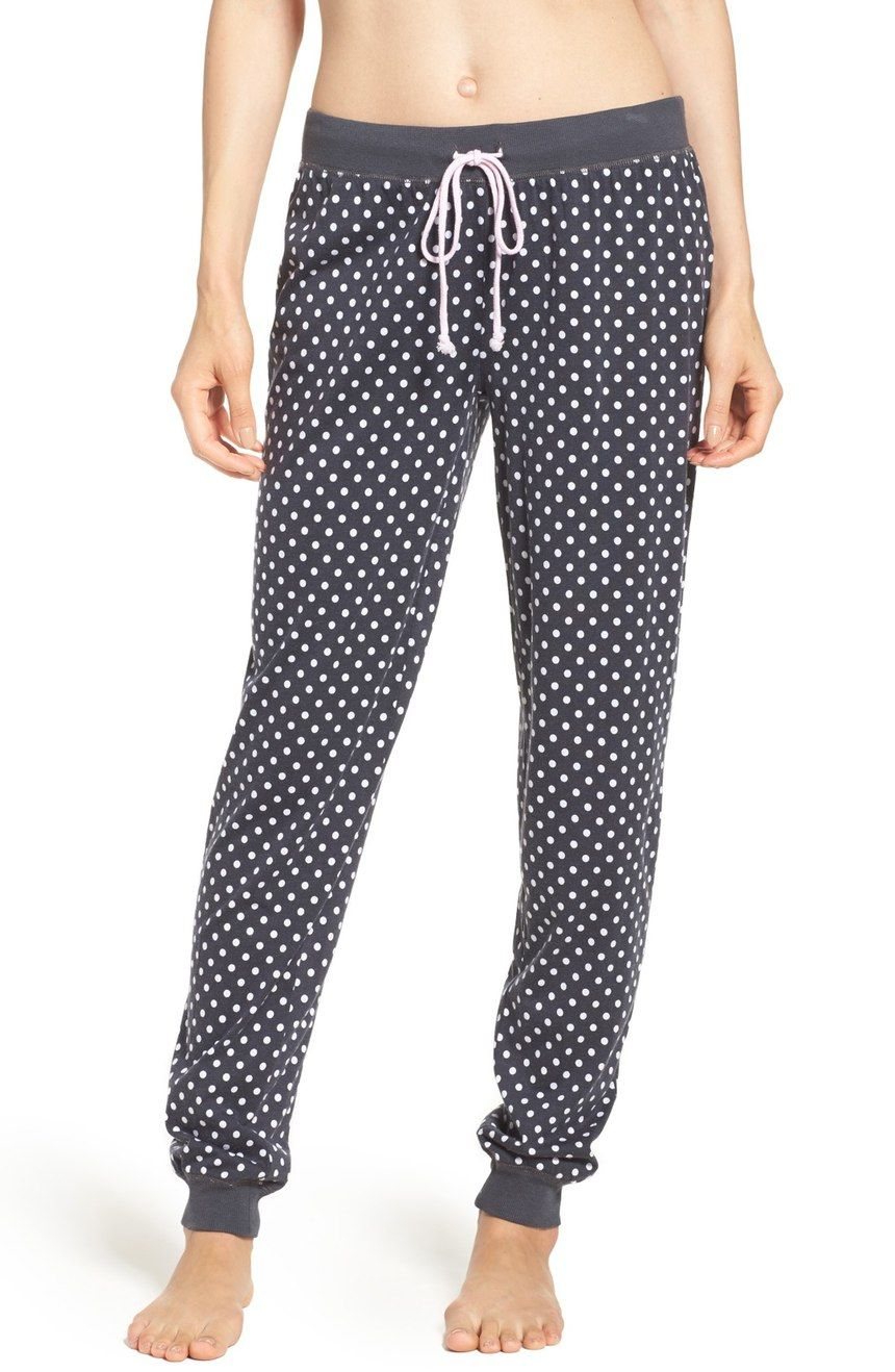 PJ Salvage Womens Solid Lounge Jogger Pant Navy X-Small