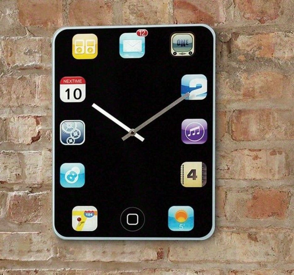 Decoration iphone wall clock unique and creative design for Clock ideas