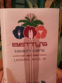 Betty's Beach Cafe - right next door to my condo ~ ate here a few times ~ good as always!