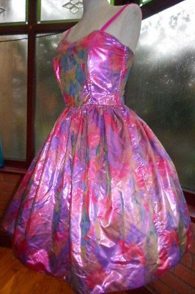Halloween: Barbie Doll   prom special occasion fashion dress metalic by steampunkageboho