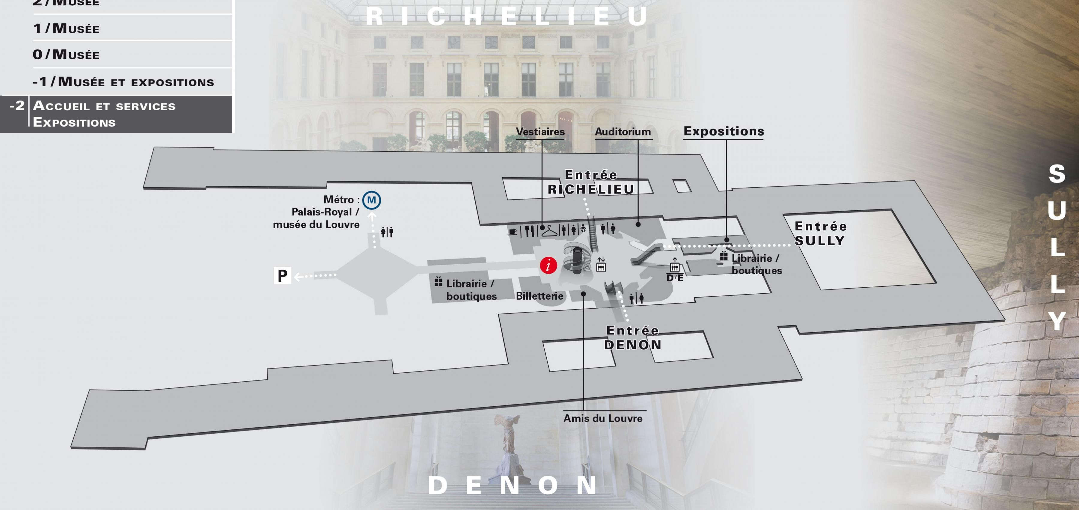 The Louvre Museum Level map Map