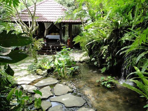 Water Feature And Pathways Balinese Garden Serenity Garden