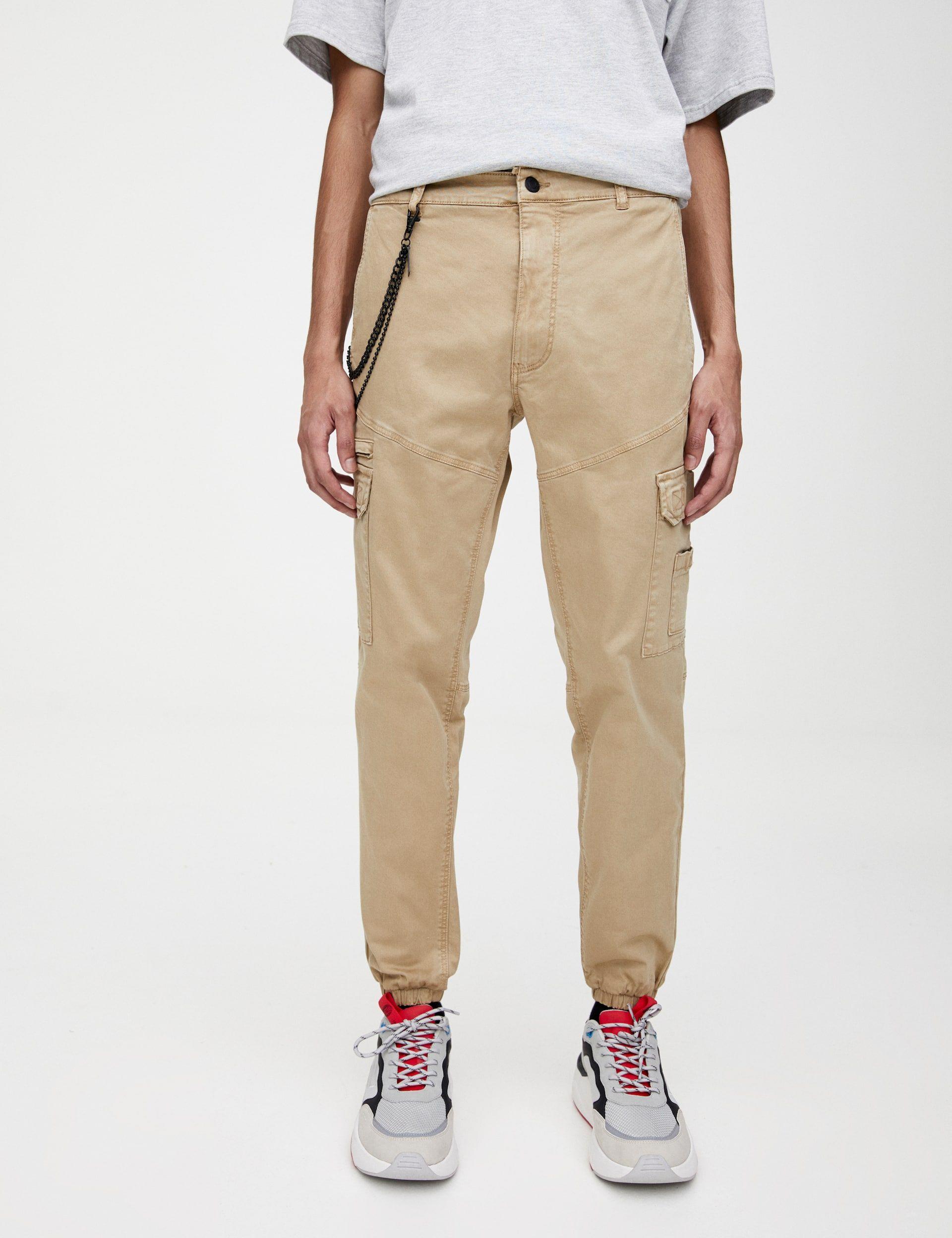 Pantalon Cargo Chino Cadena Pantalones De Moda Pantalones De Chandal Pantalones De Hombre