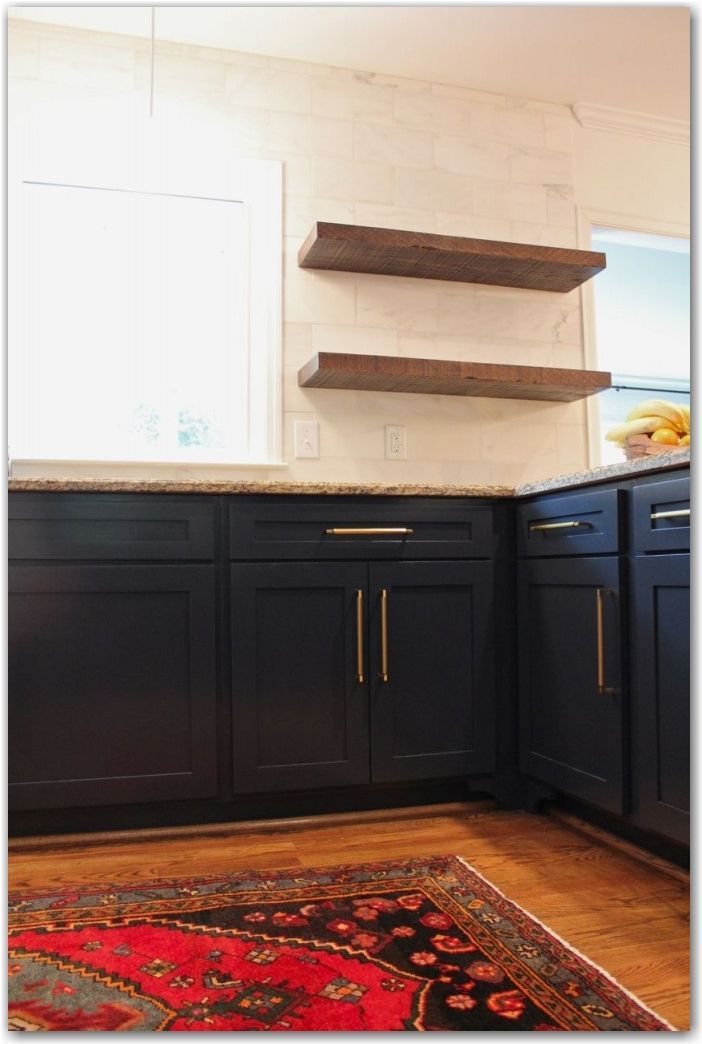 Blog Daly Designs Kitchen Shelves Navy Cabinets