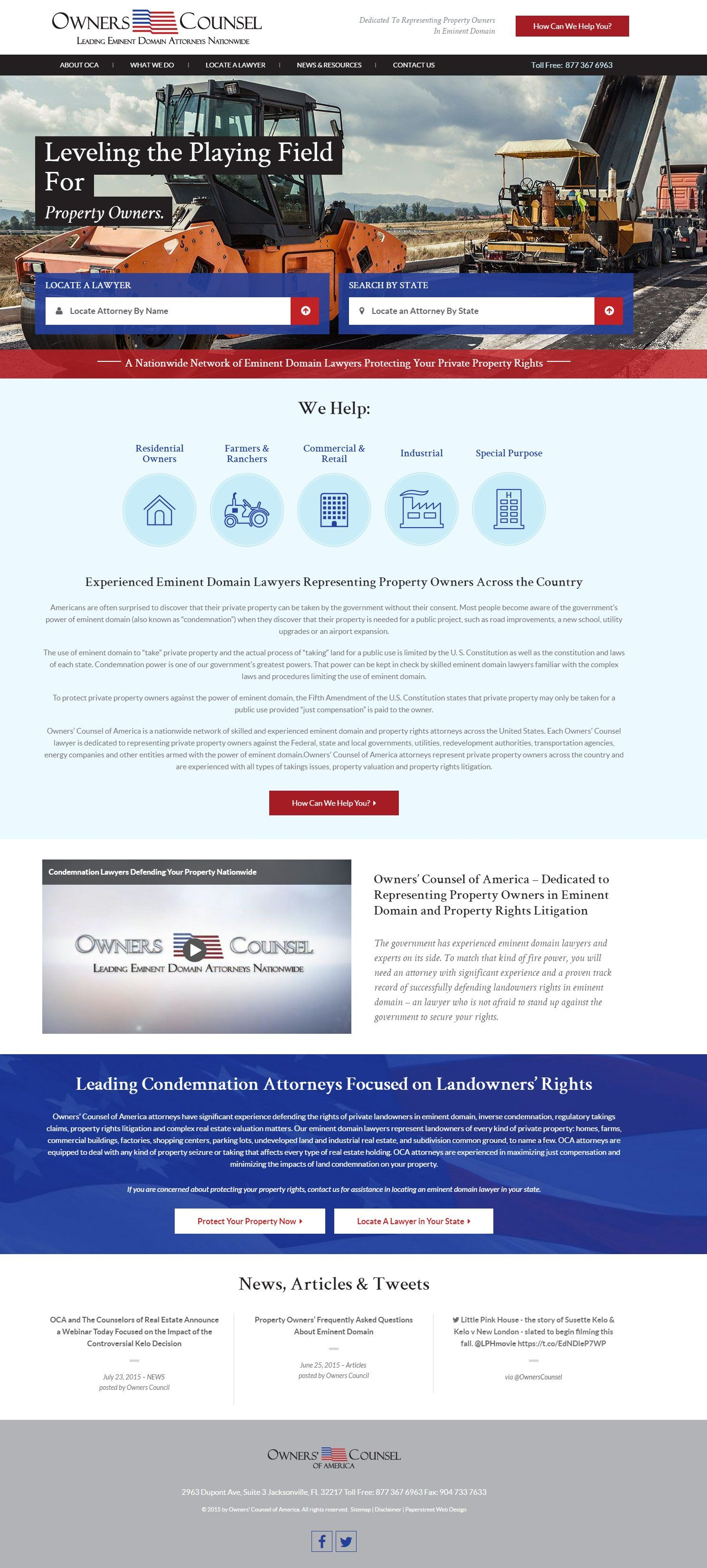 Attorney Home Page Layouts Legal Web Design Paperstreet