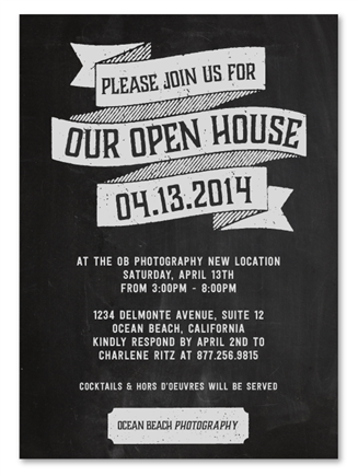 Business Event Invitations ~ Open House | Business ...