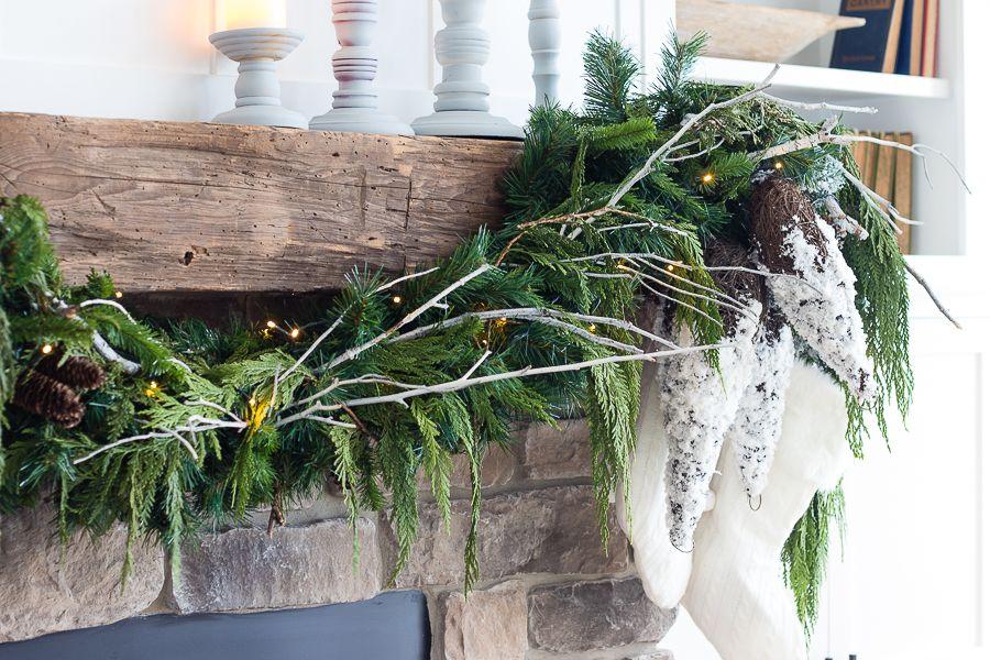 White Rustic Christmas Mantel Rustic Christmas Mantel Lilypad