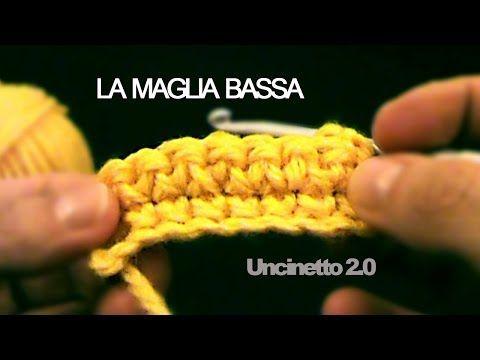 ▷ Uncinetto lezione 1 Catenella maglia bassa e maglia alta