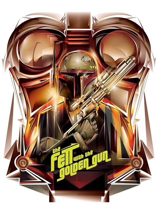 The Fett with the Golden Gun Created by Orlando Arocena
