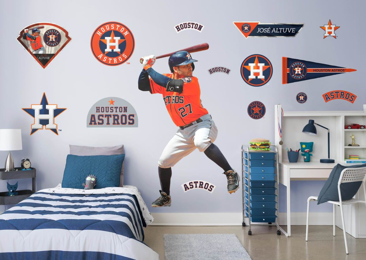 Jose Altuve Batting Fathead Wall Decal Wall Decals For Bedroom