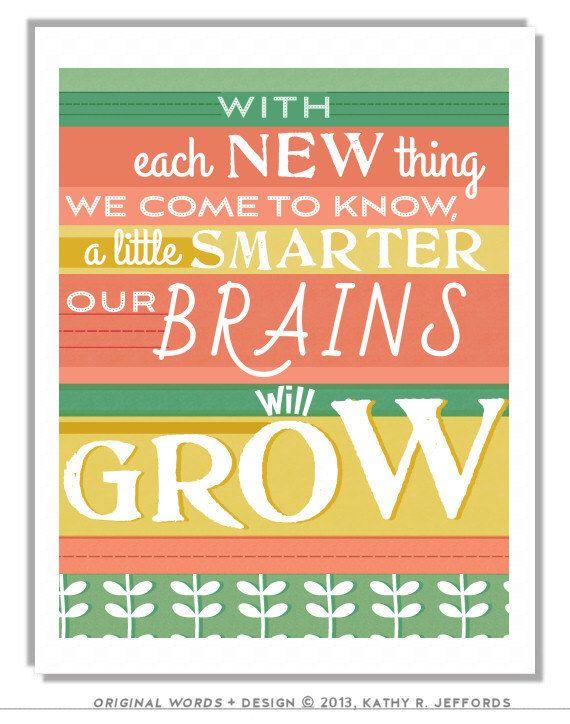 Teacher Appreciation Gift Classroom Sign Inspirational Art Learning ...