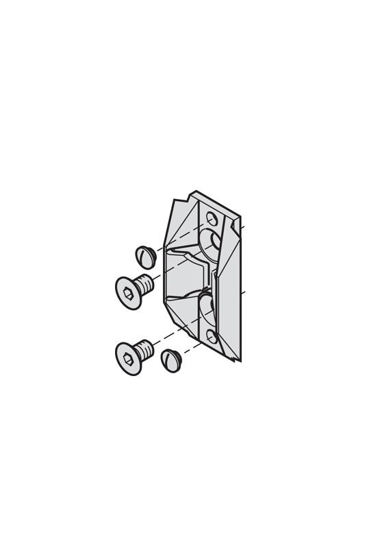 Hafele 94124042 Hawa Plastic Centering Element For Sliding Glass