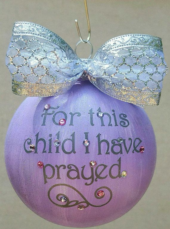 Personalized Christmas Ornament, Hand Painted, Vinyl, Bling Tree