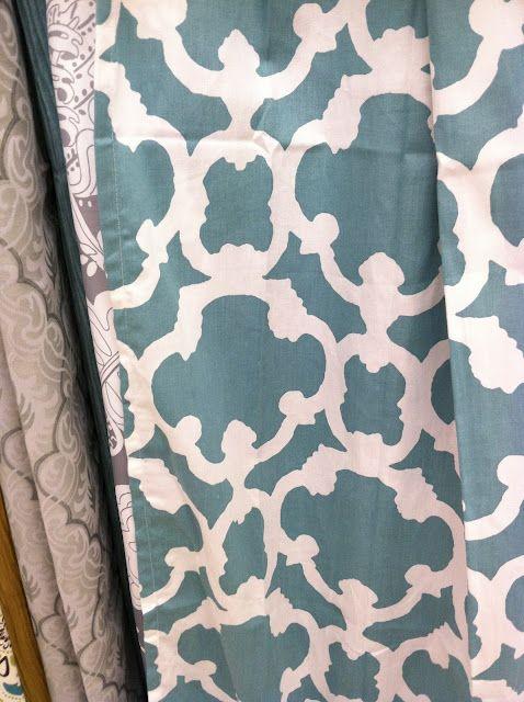 Target Blue Lattice Shower Curtain